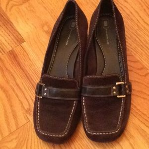 Bandolino Brown Suede Loafers 9.5